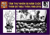 Tâm thư nhân 50 năm cuộc thảm sát Mậu Thân (1968-2018)