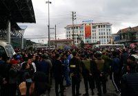 Biểu tình phản đối thu phí tại trạm BOT Biên Cương, thành phố Cẩm Phả